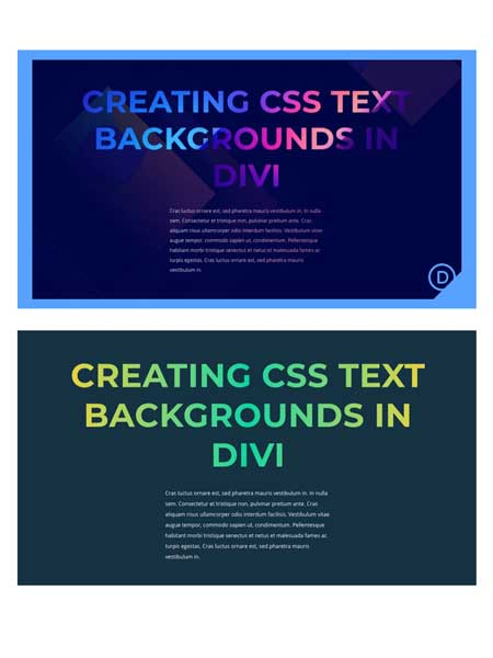 CSS Text Backgrounds with Divi
