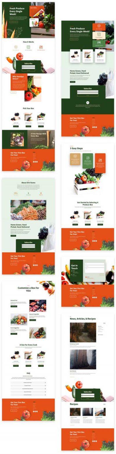 Divi Produce Box Website