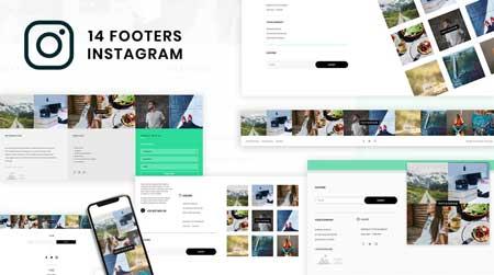 Divi Instagram Footers