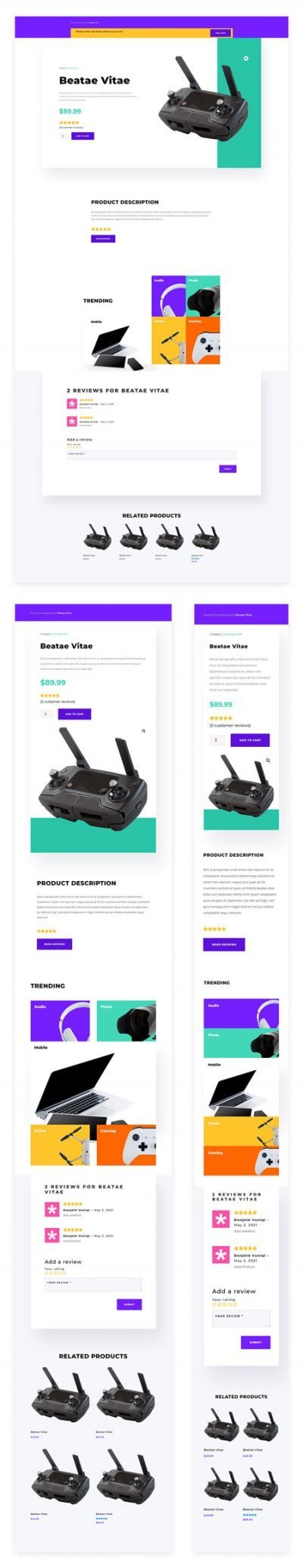 Electronics Store Product Page Template