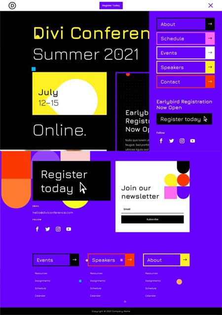 Virtual Conference Header & Footer Template
