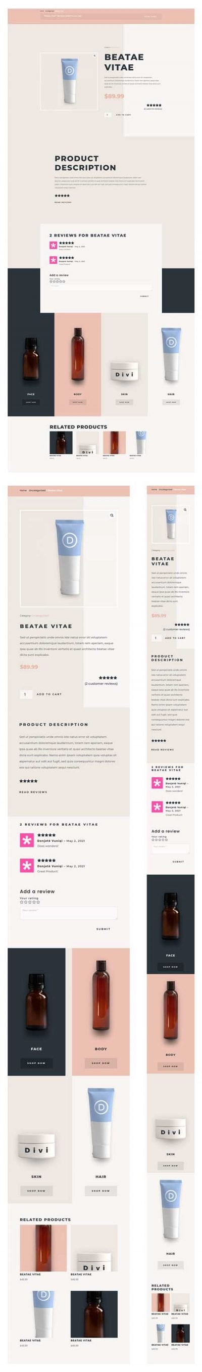 Beauty Product Page Template