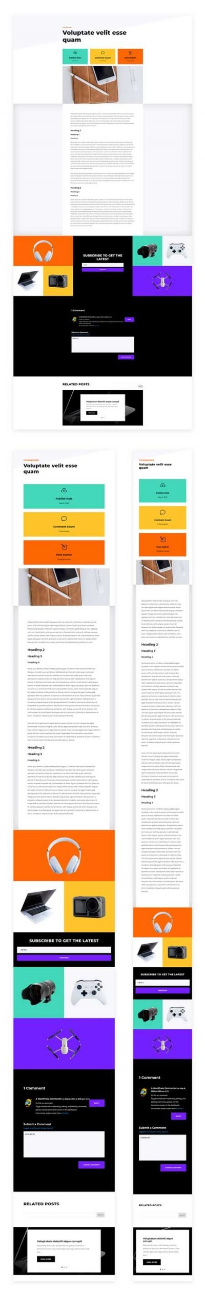Electronics Store Blog Post Template