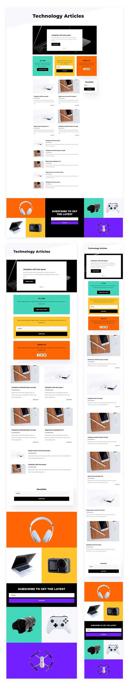 Electronics Store Category Page Template