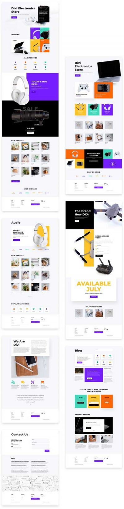 Divi Electronics Store Layout Pack