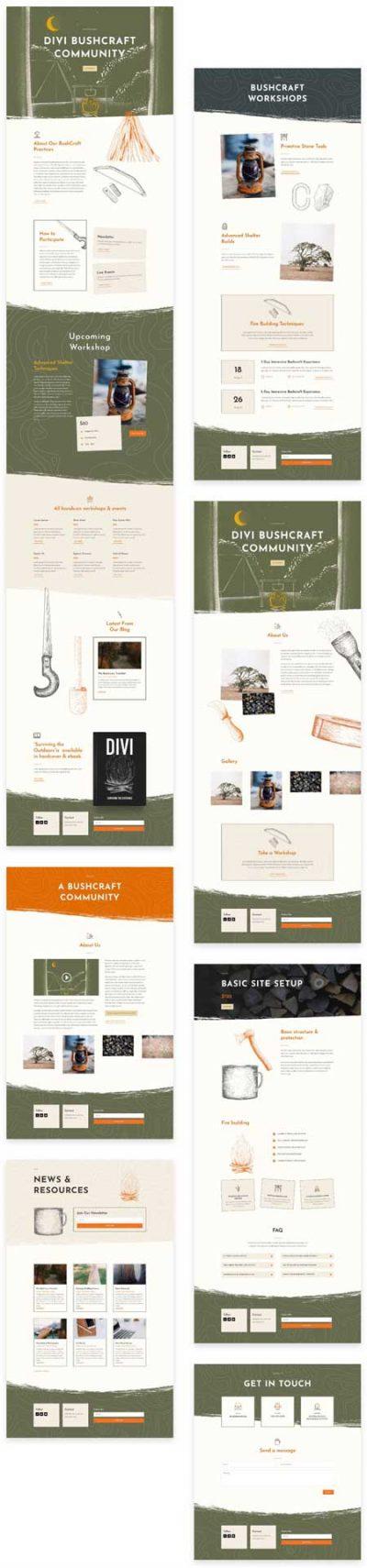Divi Bush craft Layout Pack