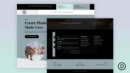 Divi Estate Planning Header & Footer