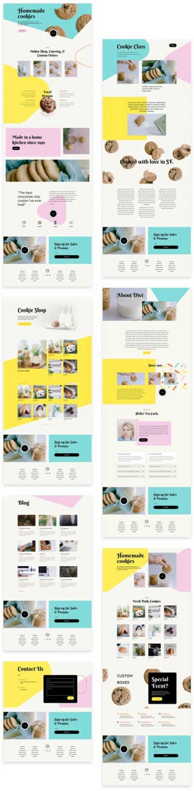 Divi Homemade Cookies Layout Pack