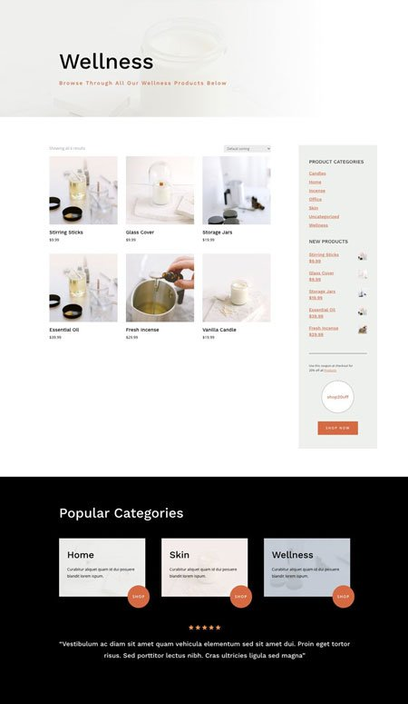 Divi Candle Making Product Category Template
