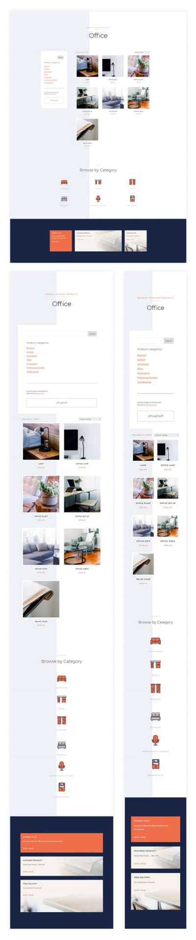 Furniture Store Product Category Page Template