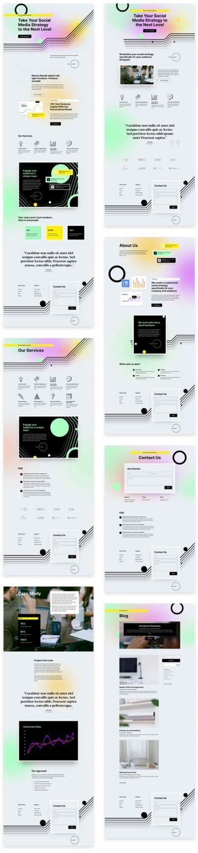 Social Media Consultant Layout Pack