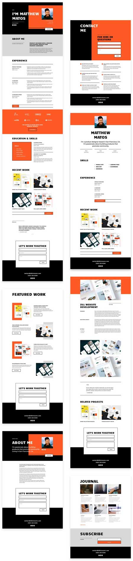Divi Creative CV Layout Pack