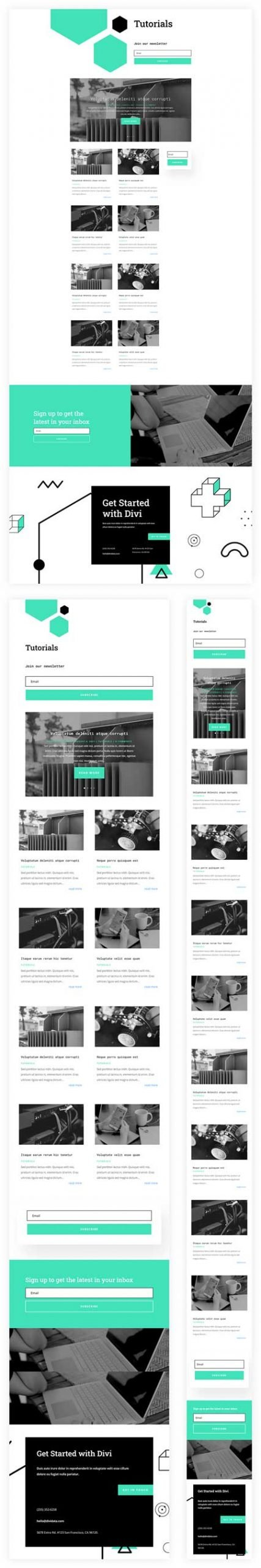 Divi Data Science Category Page Template