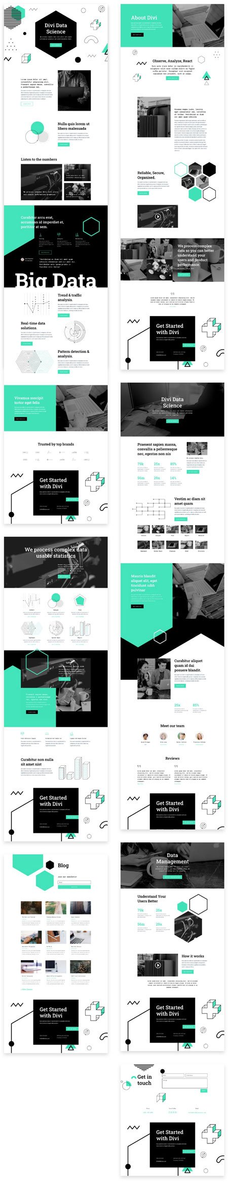 Divi Data Science Layout Pack