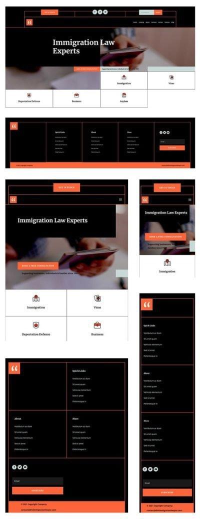 Divi Immigration Lawyer Header & Footer