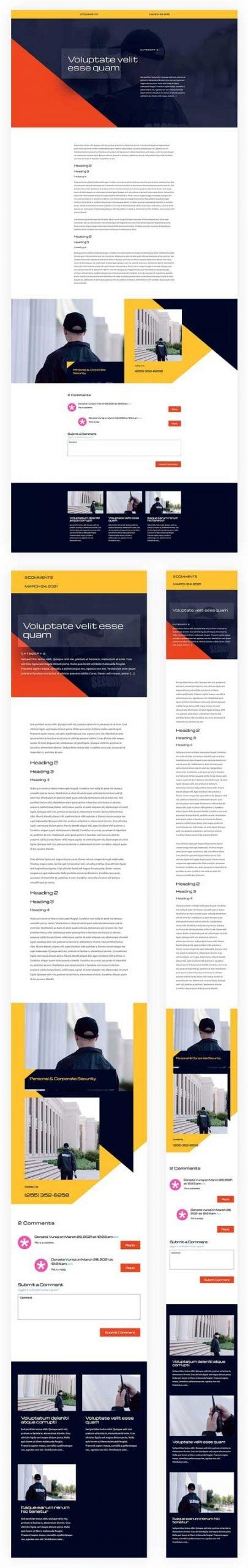 Divi Security Services Blog Post Template